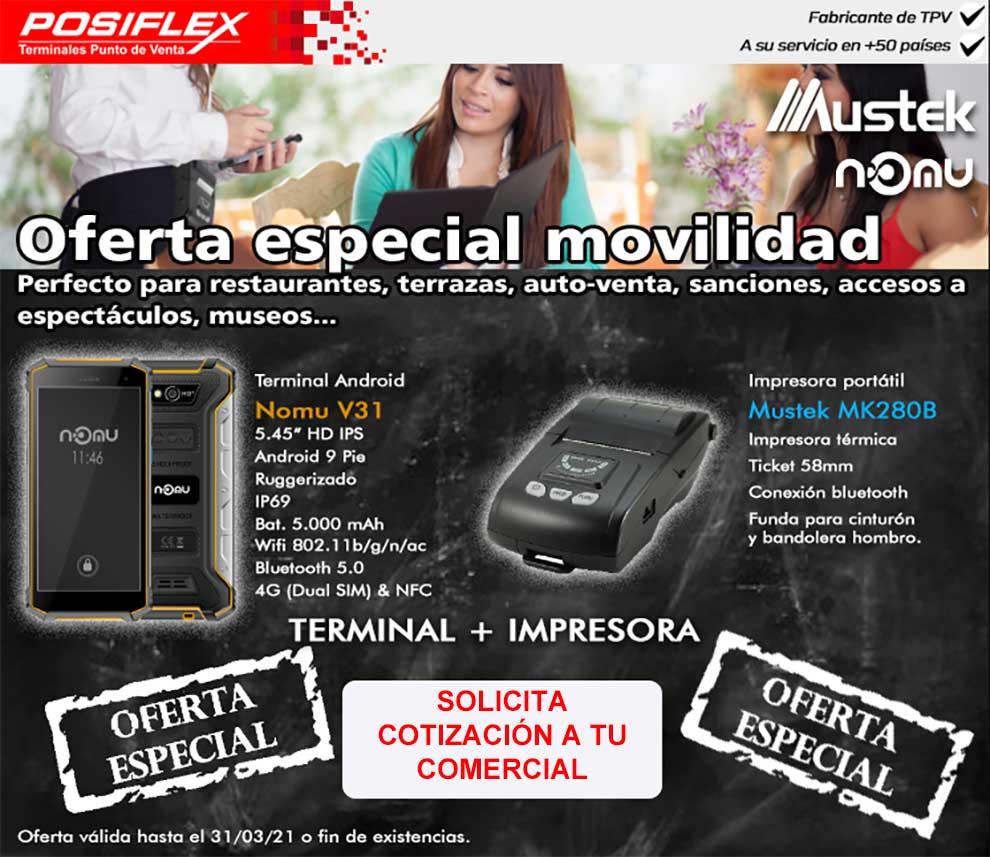 Oferta especial movilidad en Posiflex