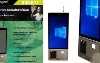 Kiosko Premier 27 W/A para autopedido y autopago