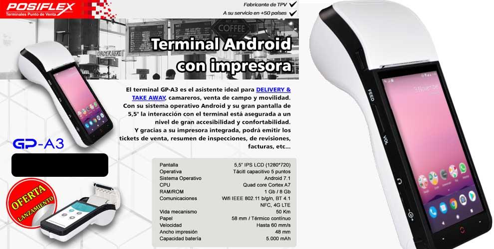 Mustek gp-a3 terminal android con impresora